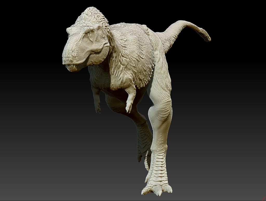 Albertosaurus sarcophagus - 3D-model WIP by FabrizioDeRossi