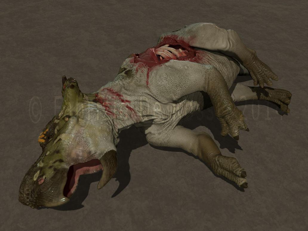 WIP - Dead Pachyrhinosaurus by FabrizioDeRossi