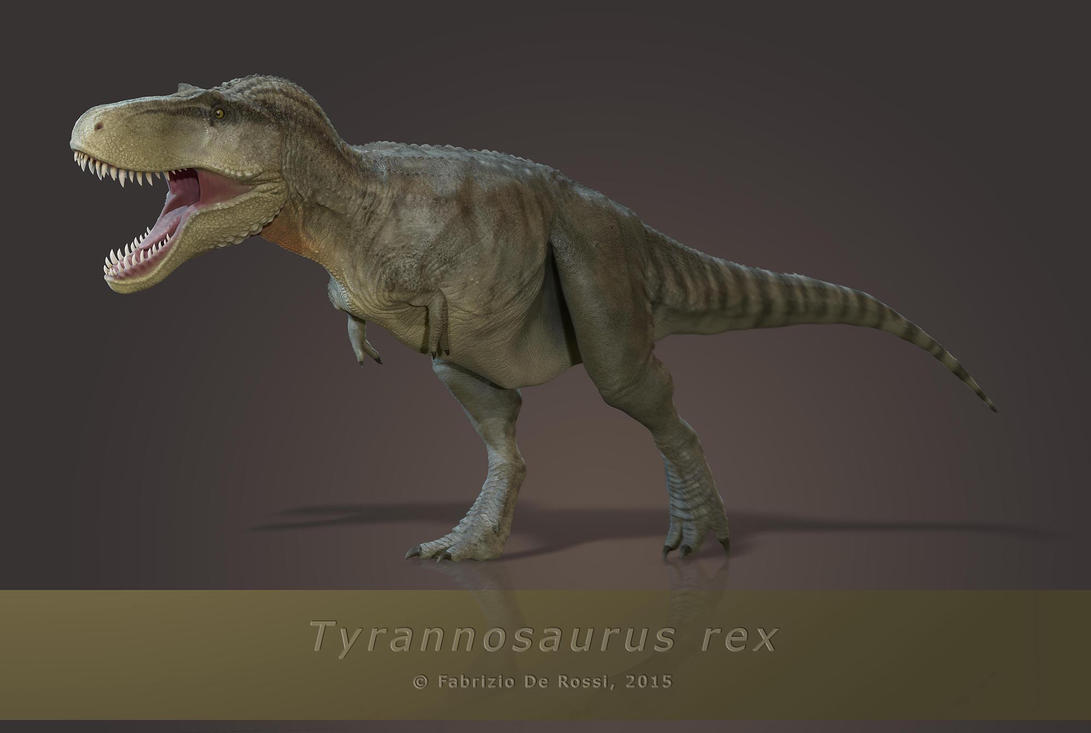 Tyrannosaurus rex - rendered pose by FabrizioDeRossi