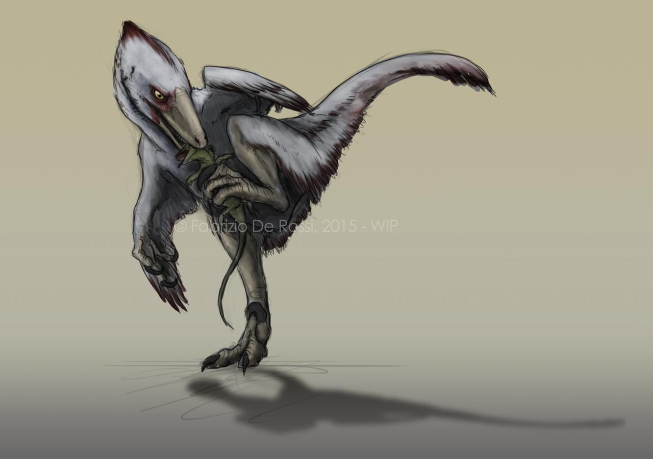 Speculative behavior - Velociraptor sp. by FabrizioDeRossi