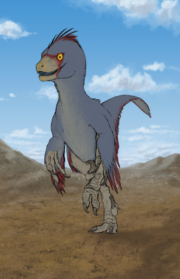 WIP2 - Velociraptor mongoliensis 'Cricket' by FabrizioDeRossi