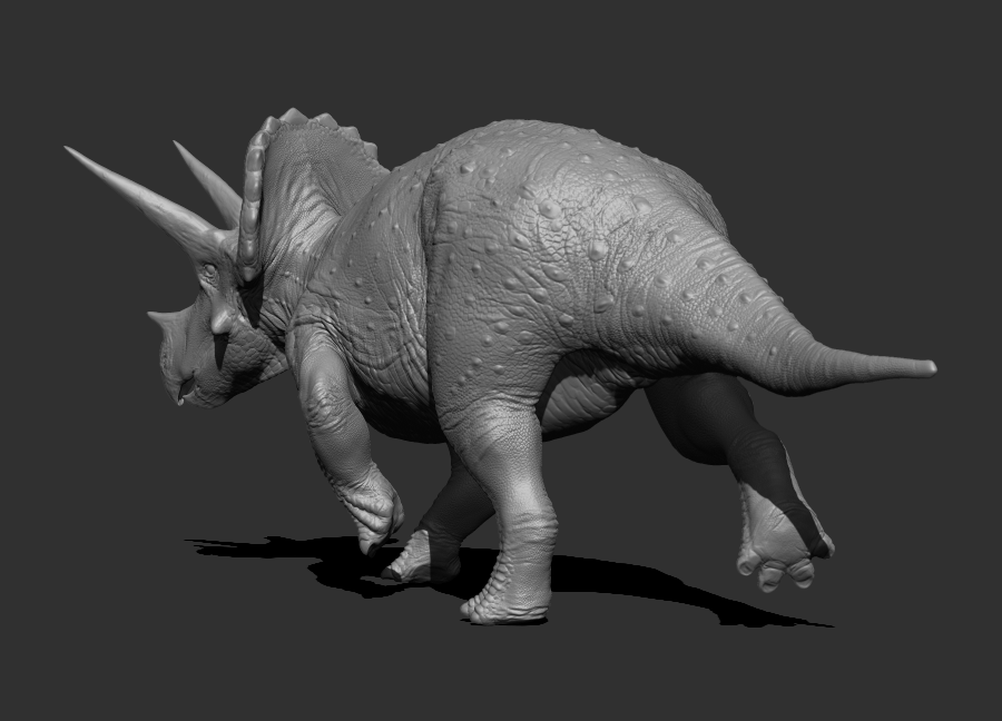 WIP 005 - Triceratops horridus male posed by FabrizioDeRossi