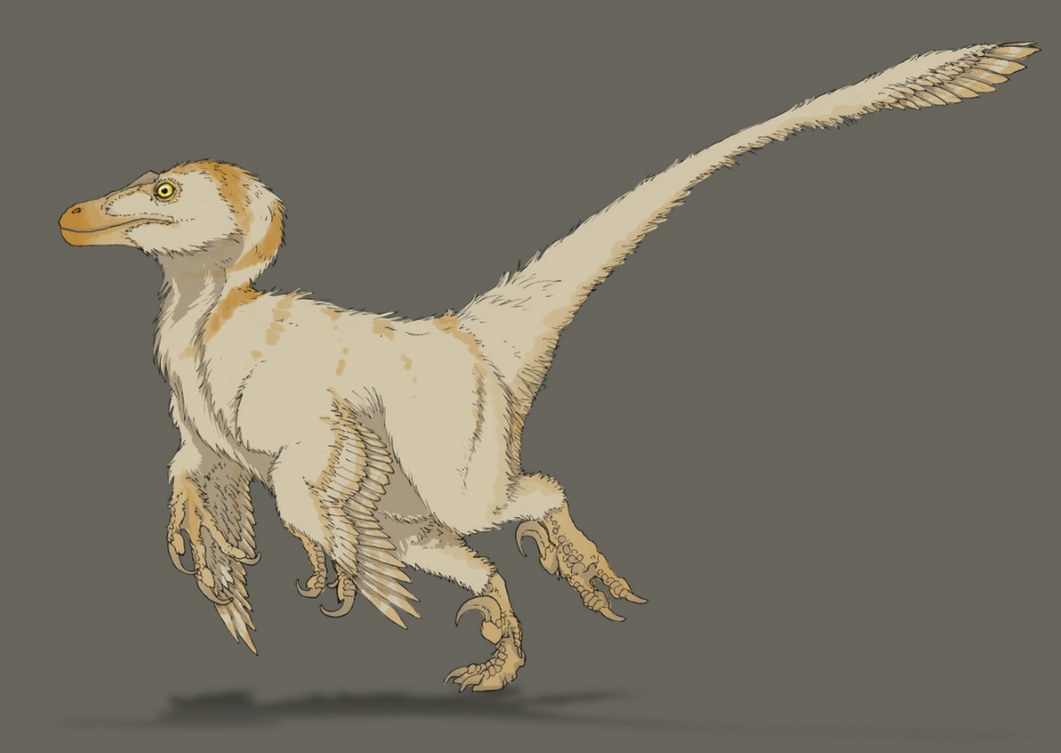 Generic dromaeosaur - comic style by FabrizioDeRossi