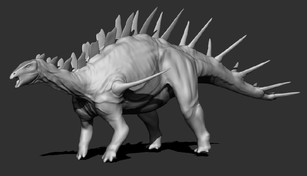 WIP - Kentrosaurus aethiopicus by FabrizioDeRossi