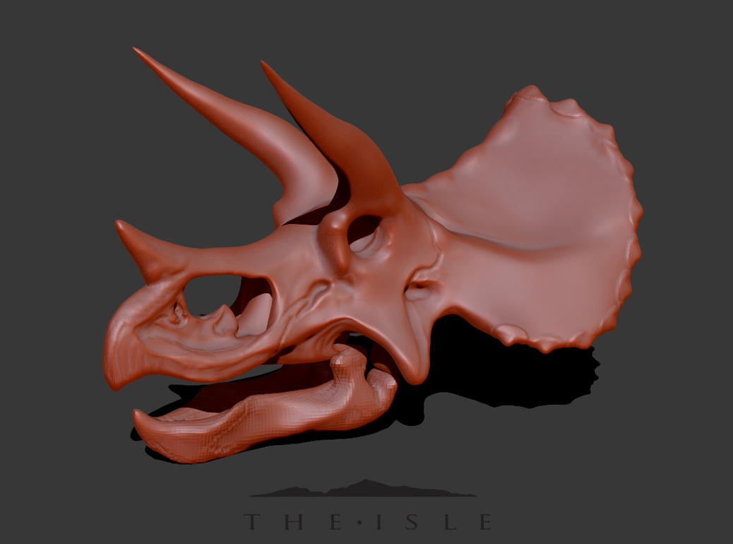 The Isle - Triceratops skull WIP by FabrizioDeRossi