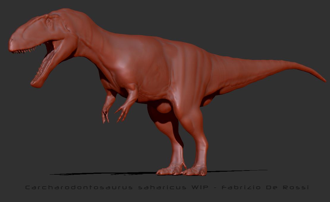 Carcharodontosaurus saharicus - WIP by FabrizioDeRossi