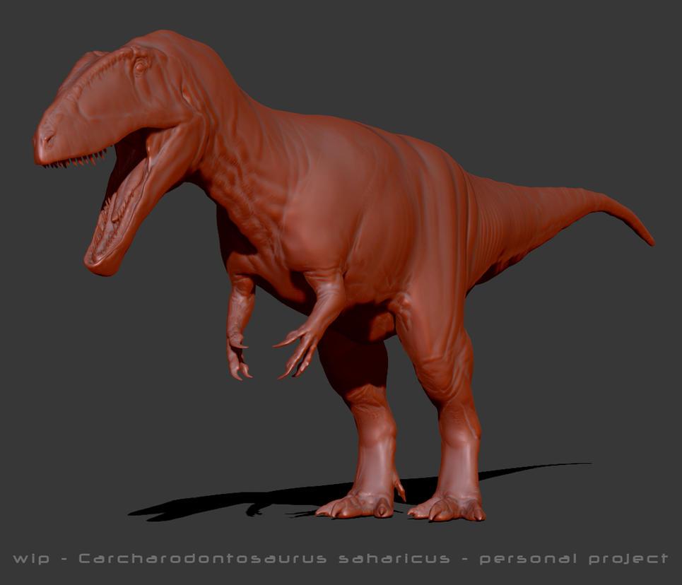WIP - Carcharodontosaurus saharicus by FabrizioDeRossi