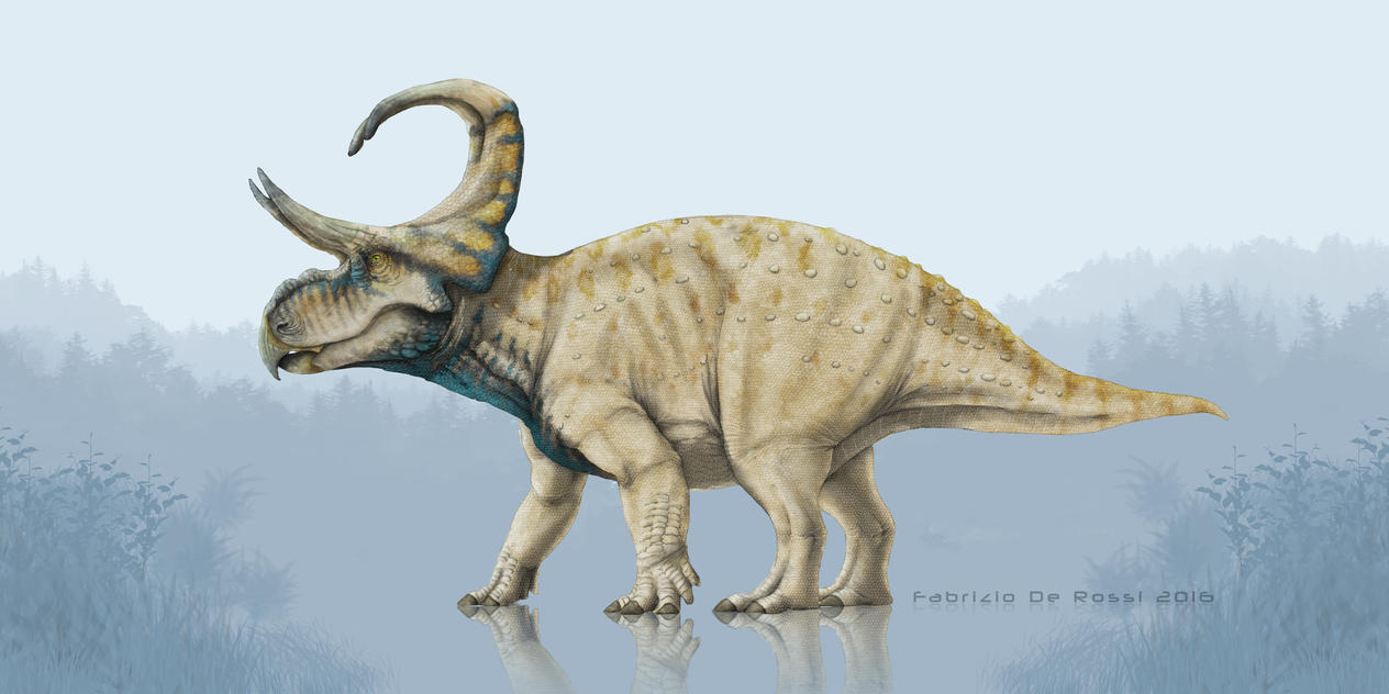 Earth Archives - Machairoceratops cronusi by FabrizioDeRossi