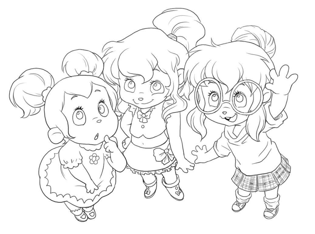 Chipettes for Musa by Pimmy on DeviantArt Alvin And The Chipmunks And The Chipettes Coloring Pages