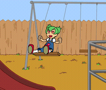 Zinnia Swinging Animation by Pimmy