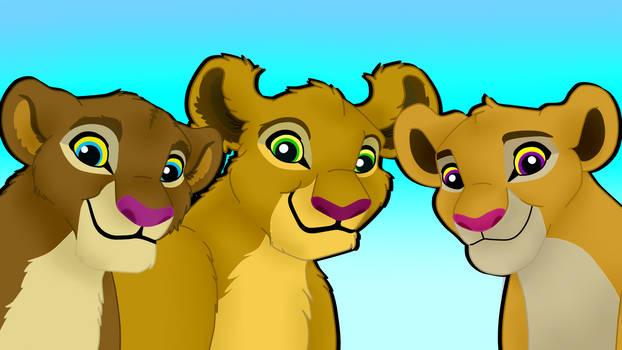 The Lionesses Duba, Mkundu, Kitako by EmilioKiara
