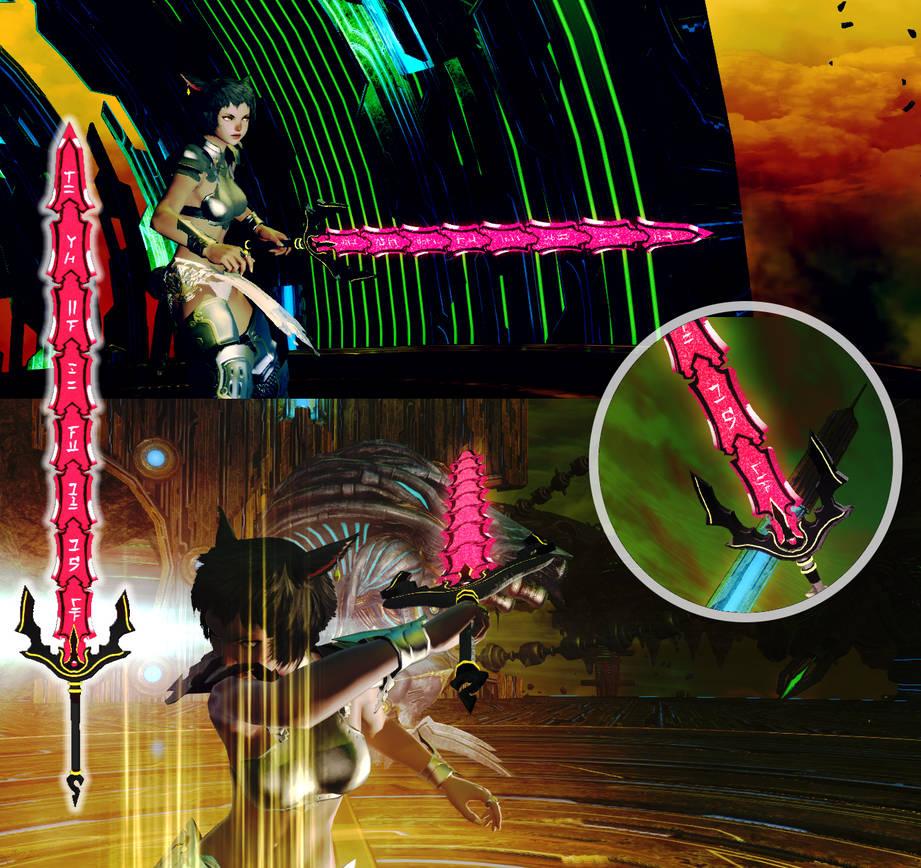FFXIV Mod - Gate of Ouroboros -  Hack//G U  by Guzma-Commissions on