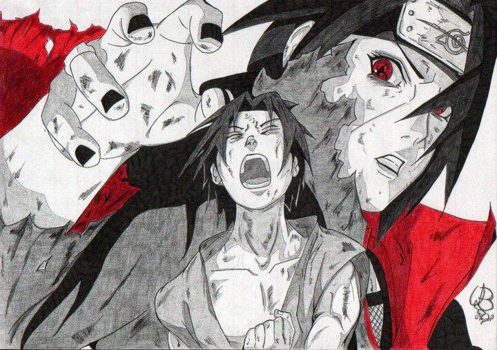 best sasuke and itachi art