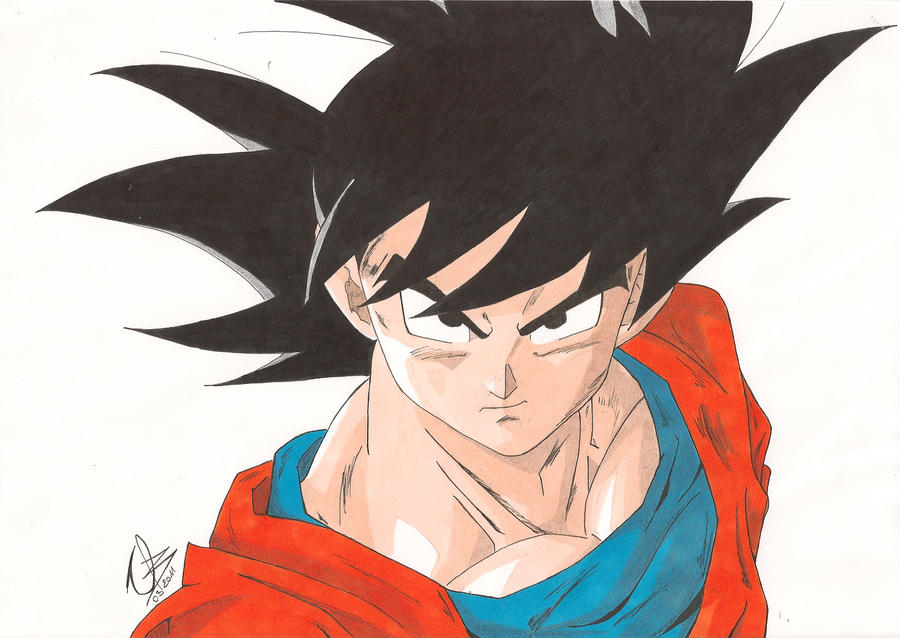 Son goku dragon ball z by elrick87 on deviantart - Dragon ball z goku son ...