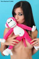 Lindsey Meets Pink Monkey by tatehemlock