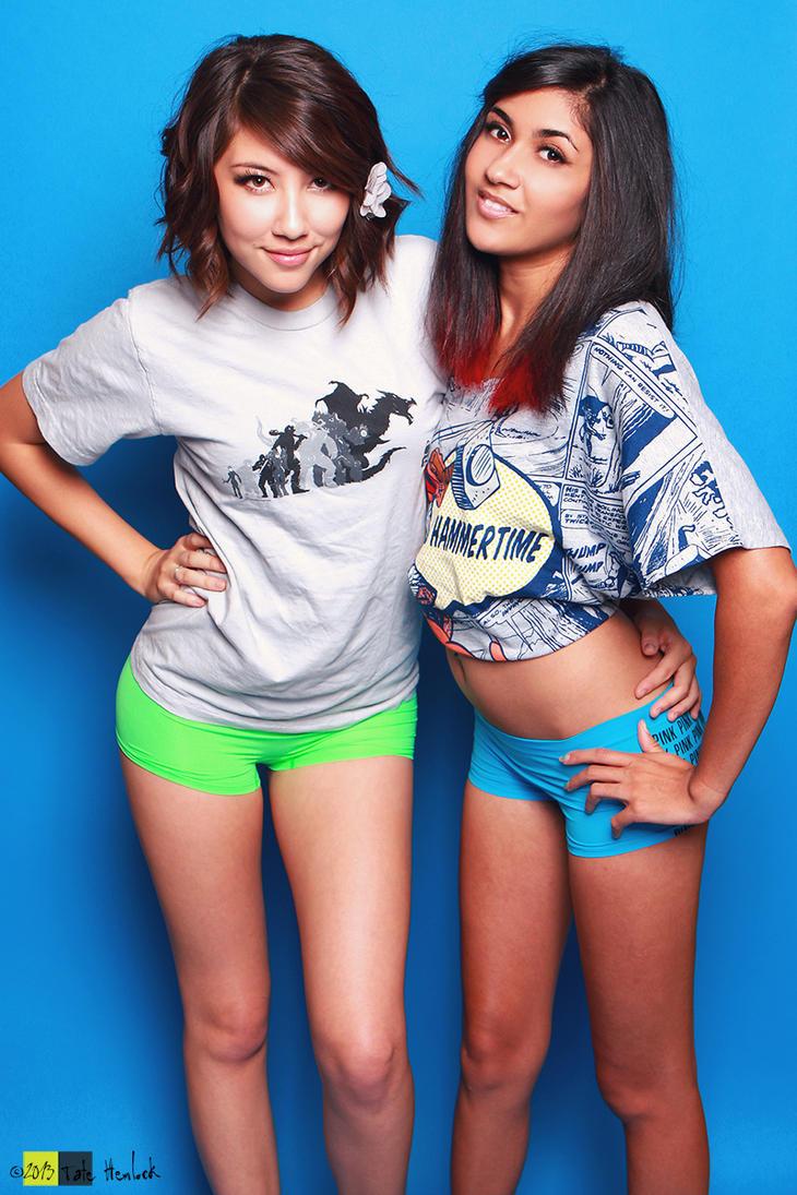 XX Girls 07 Amie Lynn and Paris Sinclair by tatehemlock