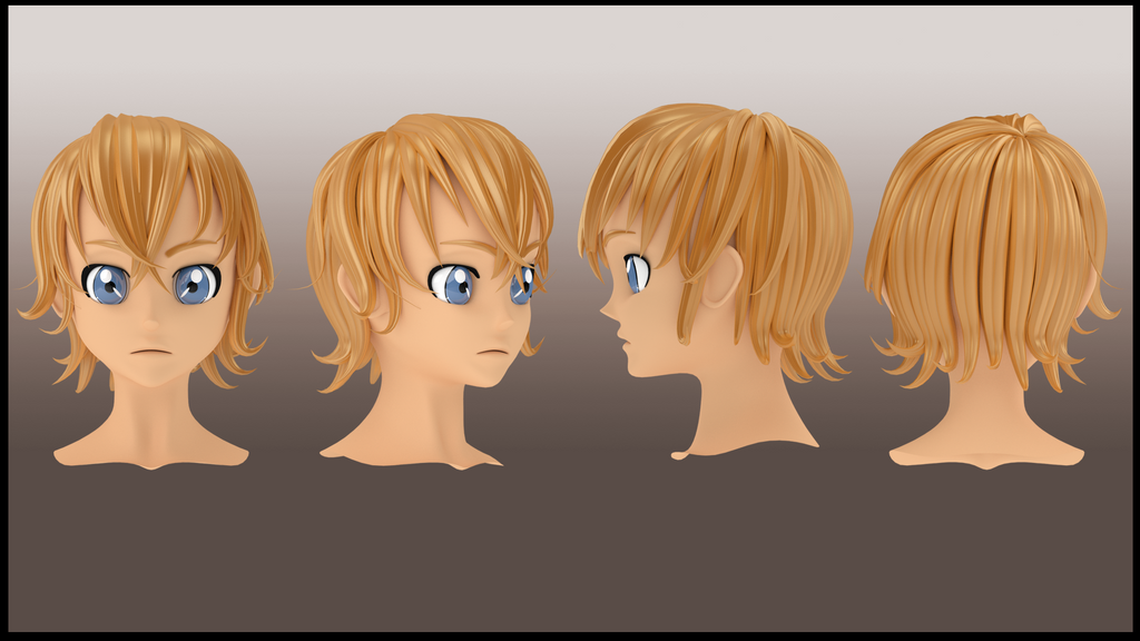 Hair Style 3d Image: Male Hair Style 3d 1 By Imaginationclash On DeviantArt