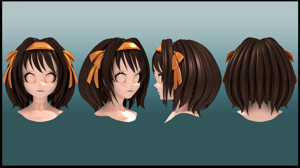 Hair Style 3d Image: Haruhi Hair Style 3d By Imaginationclash On DeviantArt