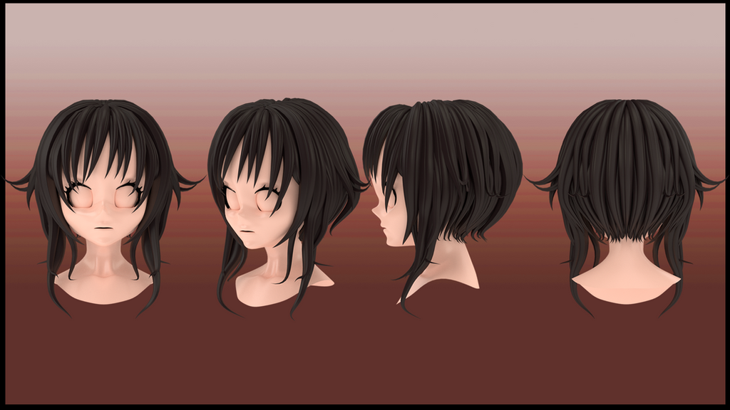 Hair Style 3d Image: Megumin Hair Style 3d By Imaginationclash On DeviantArt