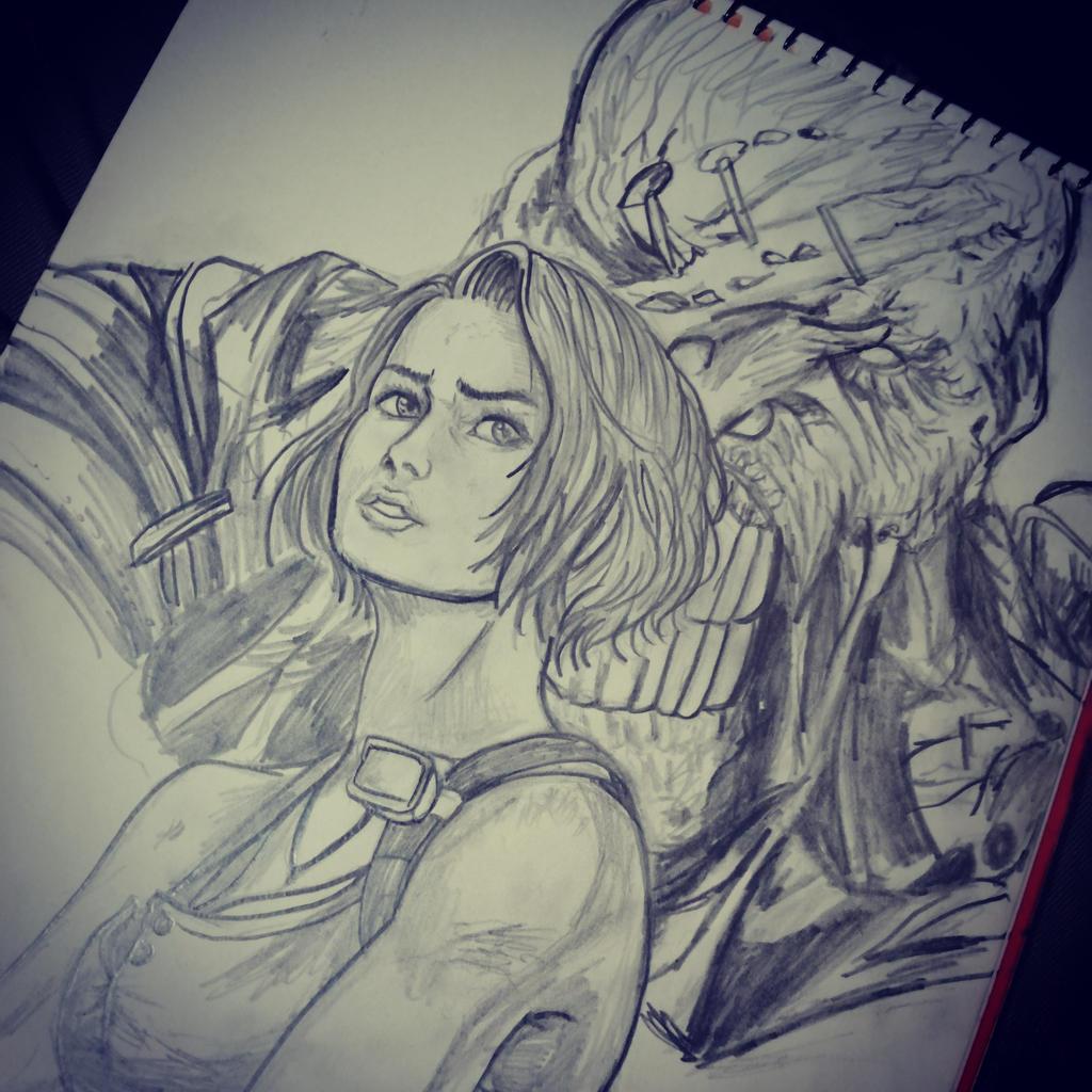 Resident Evil 3 Remake Sketch By Imaginationclash On Deviantart