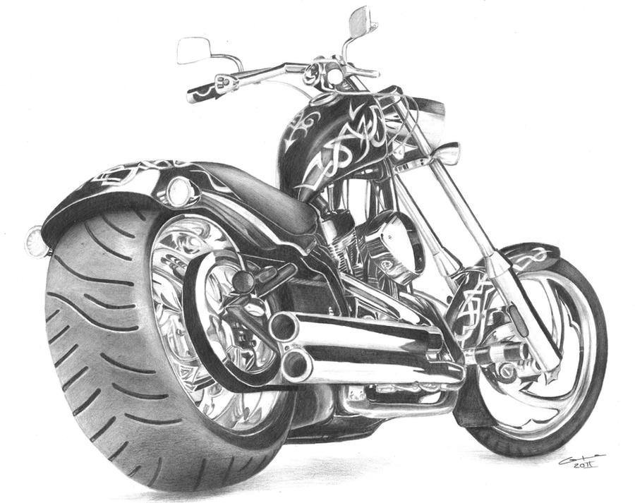 Photos Motos Harley Davidson Chopper Femmes