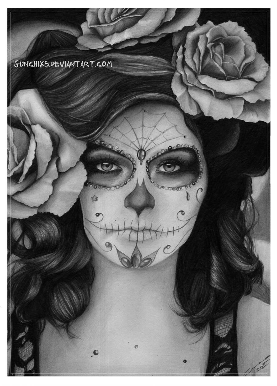 Sugar-skull Girl By Gunchixs On DeviantArt