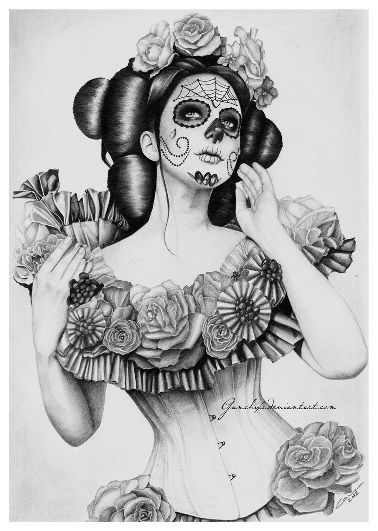 Beautiful Sugar Skulls Drawings Sugarskull-Summer by Gunchixs