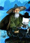 Vietnamese fisherman by Gunchixs