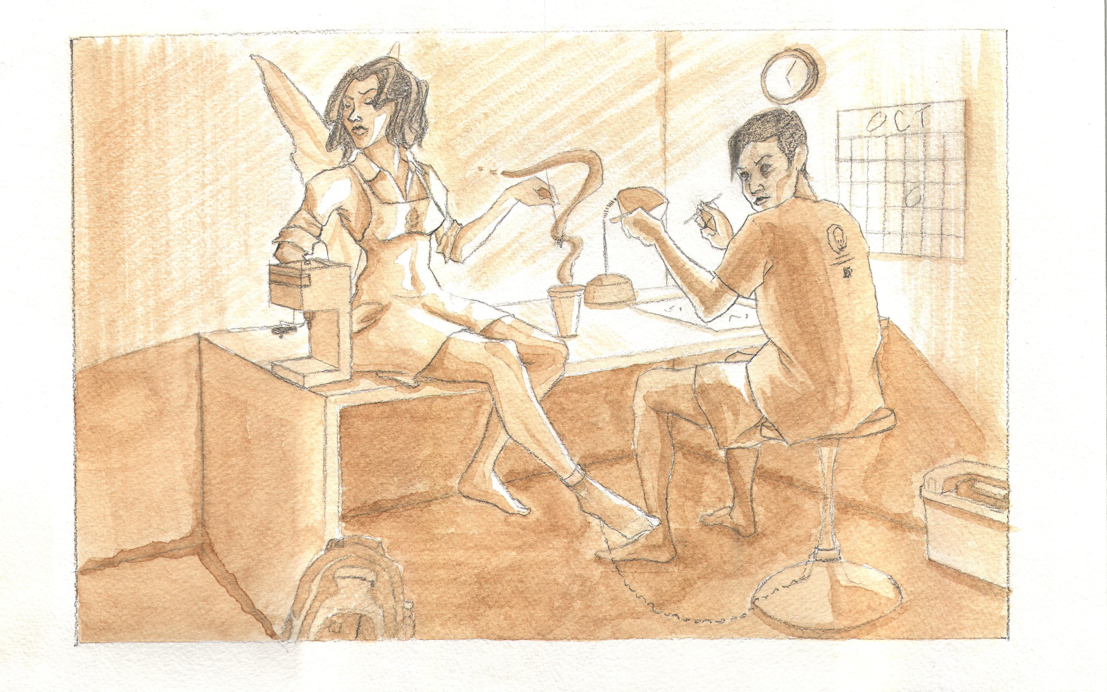 Art 28: Coffee Illustration by 0dd10ut