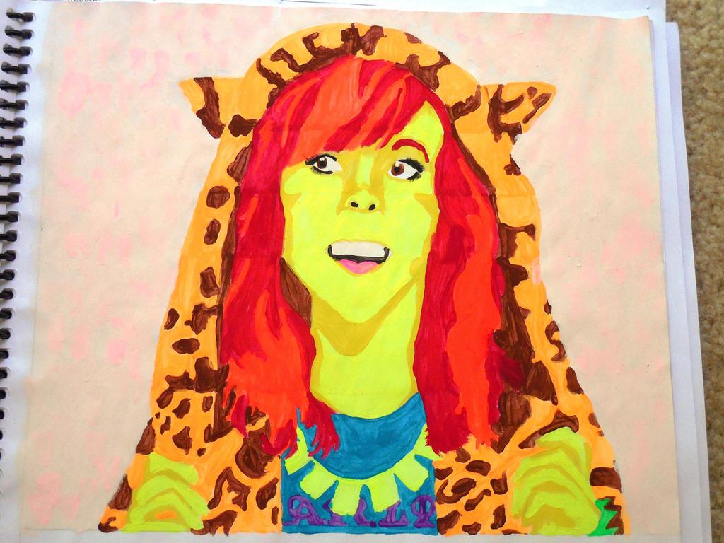 Lindsey Stirling watercolor by evangeline40003