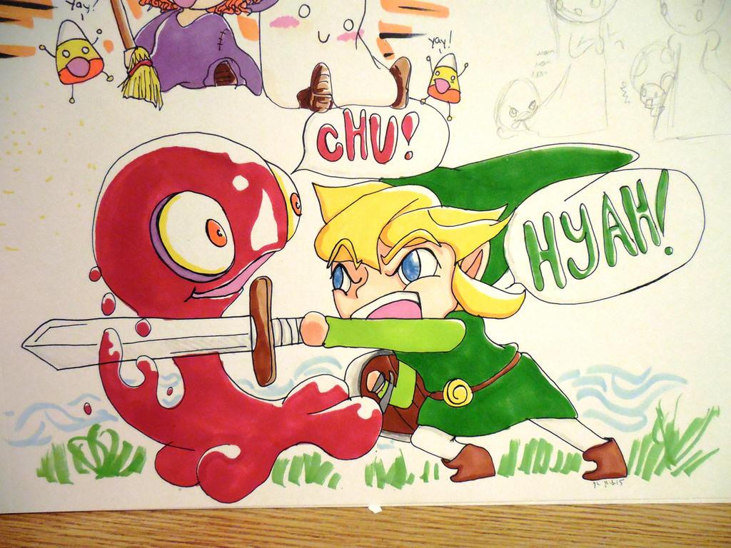 Link vs CHU! by evangeline40003
