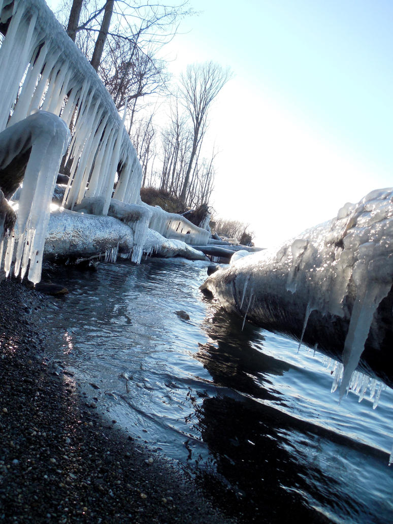 Icicles of the Lake by evangeline40003