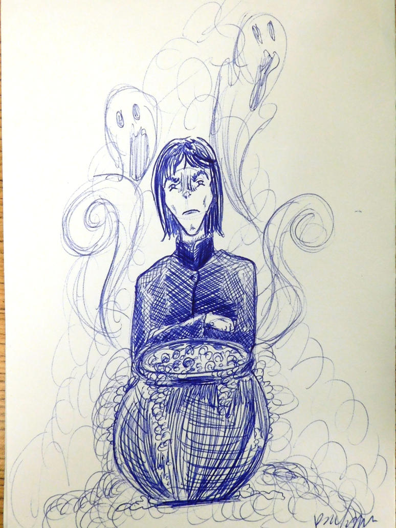 Inktober Snape! by evangeline40003