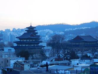 Crepuscular Pagoda Blue by evangeline40003