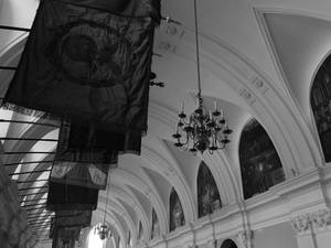 Hall of Flags BW