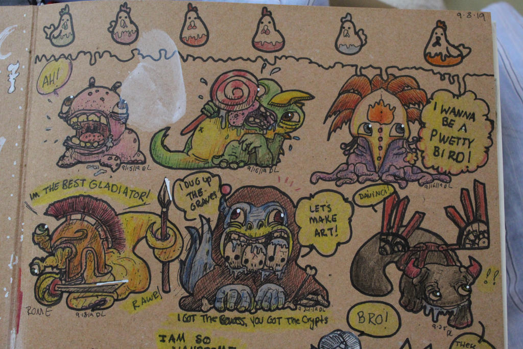 European Monsters~~ Doodles of Travel