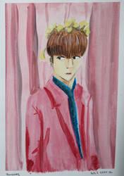 Jungkook Pink Watercolor