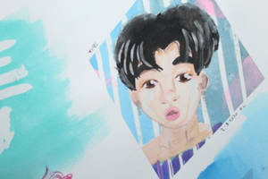 Park Jimin Watercolor by evangeline40003