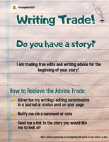 Writing Trade!! Get free small edit and advice