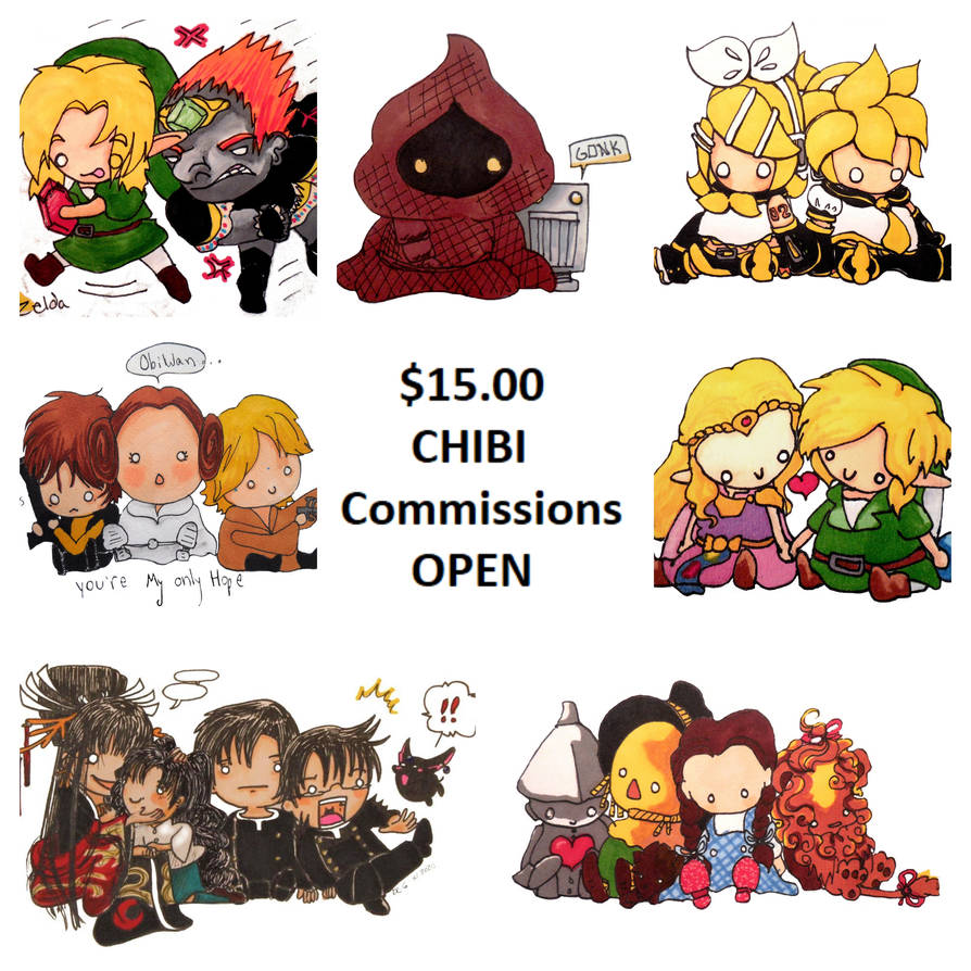 $15 chibi commissions are OPEN
