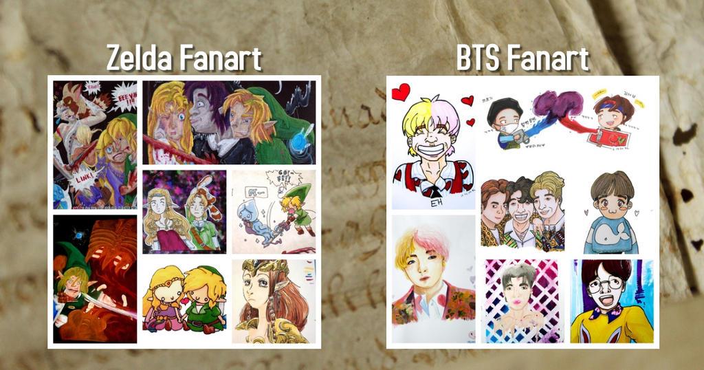 BTS Fanart and Zelda Fanart Gallery