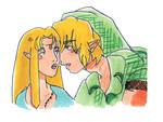 Link x Zelda Doodle by Evangeline40003