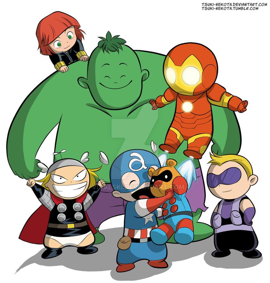 Baby Avengers by Tsuki-Nekota