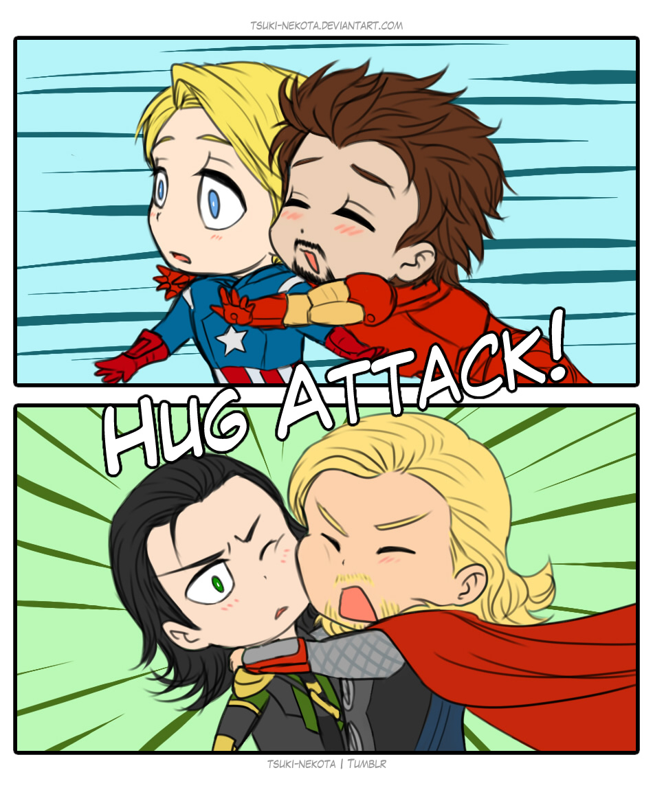 Hug Attack by Vivalski