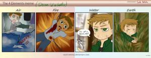 Dean Winchester - 4 Elements meme