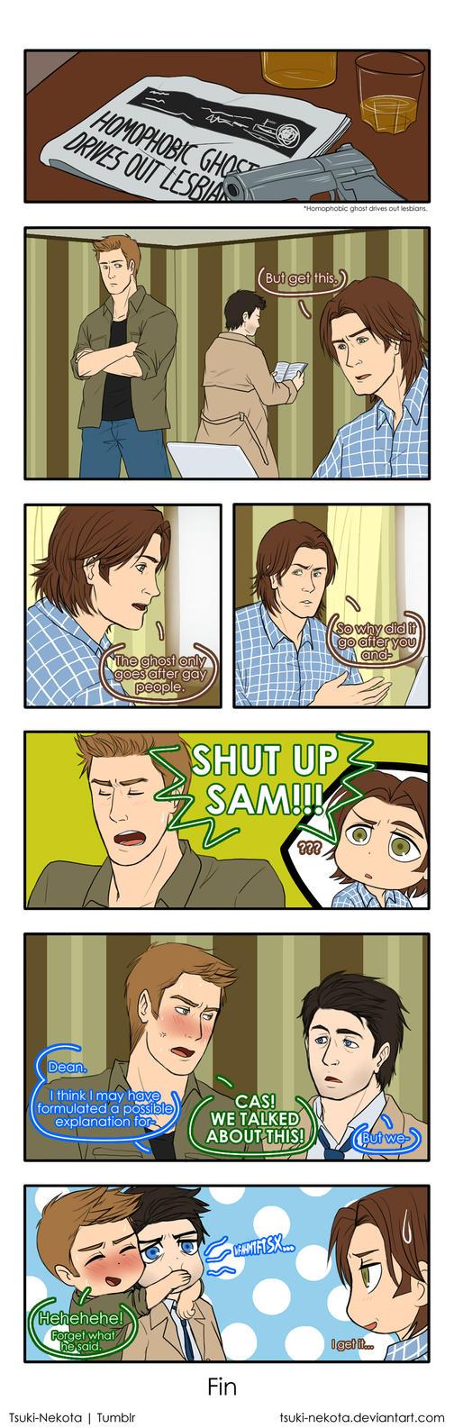 Sammy is confused by Tsuki-Nekota
