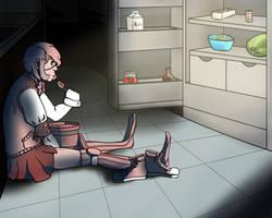 Sitting on the floor by SevenSkyesofFire