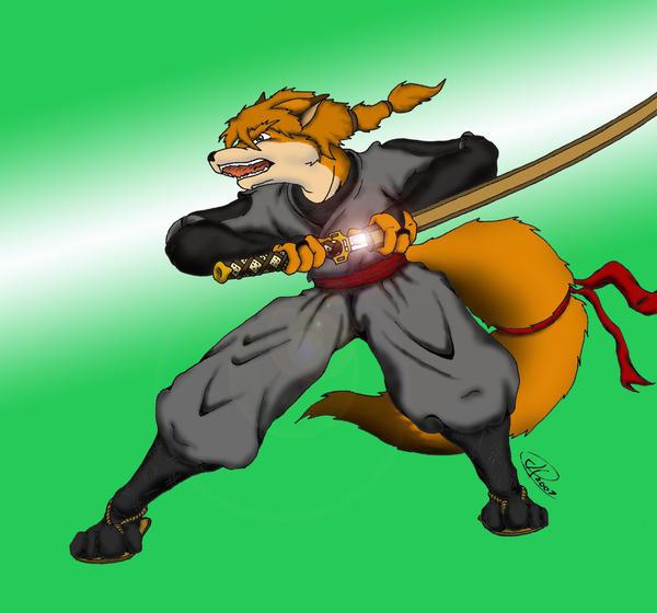 Fox Ninja Colored by ShinFox