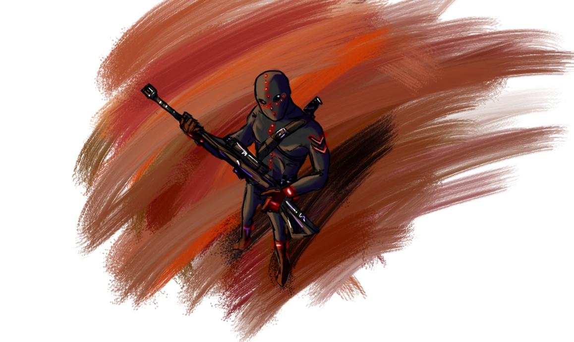 Sniper villain by Leoma-silfren