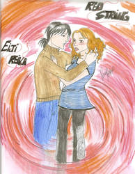 Red String: Reika and Eiji by Pauhra